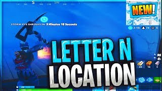 Search the letter N under a frozen lake LOCATION Fortnite week 4 challenges