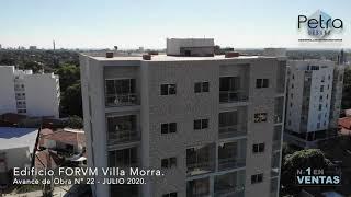 AVANCE DE OBRA: Edificio FORVM Villa Morra, JULIO 2020