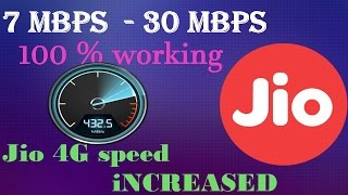 How to increase reliance jio sim speed upto 30 mbps tips &tricks in hindi [100 % working] 2016 thumbnail
