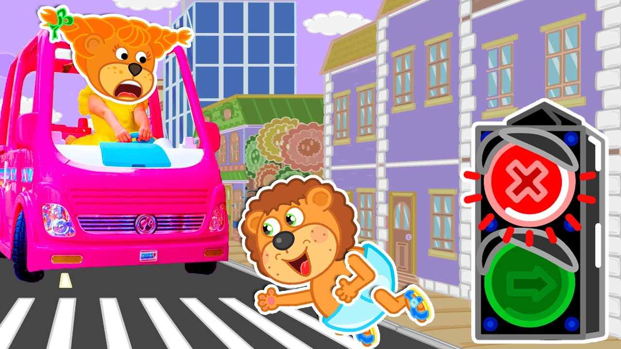 Five Kids Safety Song | Lion Family | Cartoon for Kids
