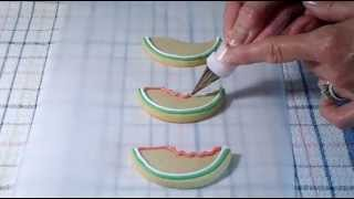 Cookie Decorating - How To Decorate Watermelon Cookies
