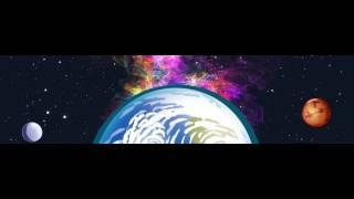 de dibujos animados de la tierra girar los planetas nebulosa bg