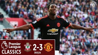 Martial double sinks the Saints  Southampton 2-3 Manchester United 1516  Classics