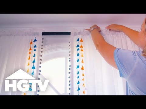 How to Customize Plain Curtains With Paint and Trim - HGTV