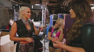 A conversation turns heated between Nia Jax and Maryse: Total Divas Preview Clip, Nov. 1, 2017
