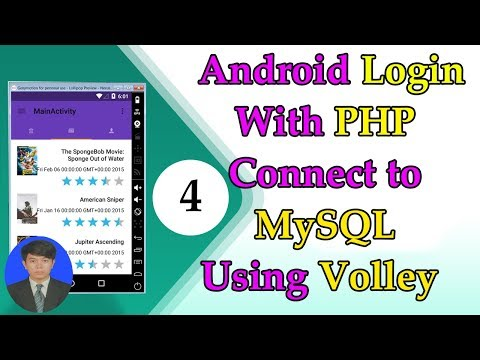 Android Volley JSON - #4 Android Login With MYSQL Database Connection 2017