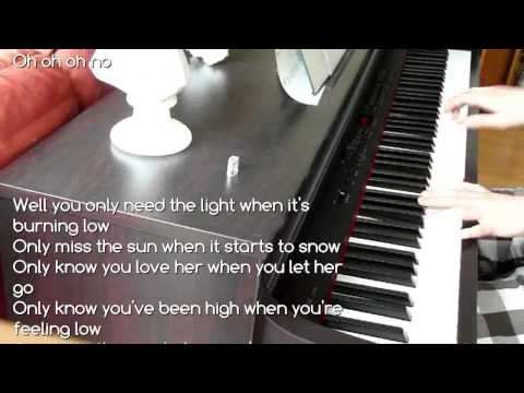 PASSENGER   LET HER GO (Piano Cover with Lyrics on screen)