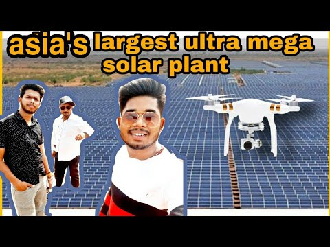 solar power plant rewa mp || drone view || solar plant gurh