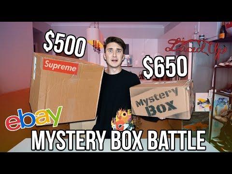 $500 EBAY SUPREME MYSTERY BOX VS $650 LACED UP MYSTERY BOX!