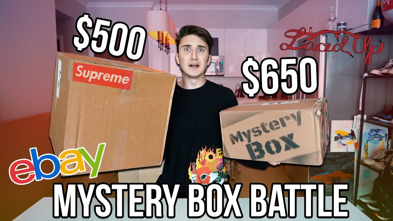 500 Ebay Supreme Mystery Box Vs 650 Laced Up Mystery Box Youtube
