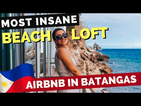 MOST INSANE Beach Loft AirBnB in Anilao BATANGAS - Philippines Travel Vlog