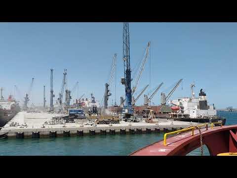 ship alongside in port of kuwait middle east