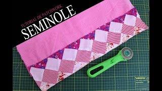 Reaproveitando retalhos de tecido para utilizar na técnica seminole