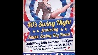 40s Swing Night - Super Swing Big Band - Bloodshot Eyes - The Aquarium 18/10/2014