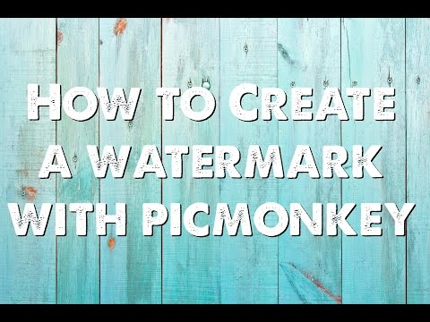 How to Create a Watermark with Picmonkey
