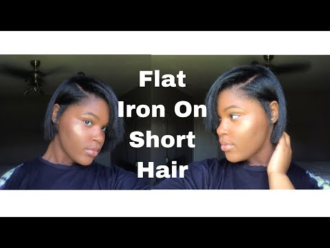 How To Flat Iron On Short Hair (Routine)