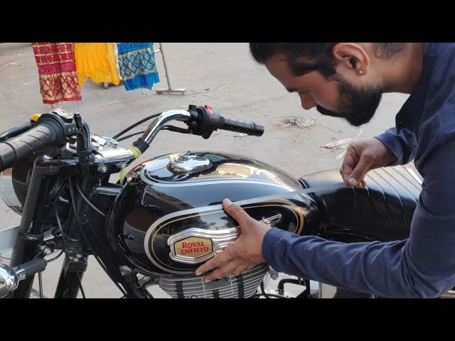 Royal Enfield Standred 500 transformation from Standred 350 | BS4| Custom  stickers | Vwraps Sikar