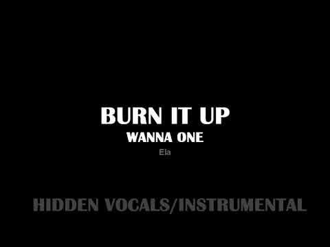 [HIDDEN VOCALS/INSTRUMENTAL] Wanna one - Burn it up