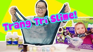 THỬ THÁCH TRANG TRÍ SLIME ĐEN NHẤT QUẢ ĐẤT | Draw Slime Challenge