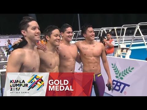 Swimming Men's 4 x 200m freestyle relay finals   29th SEA Games 2017