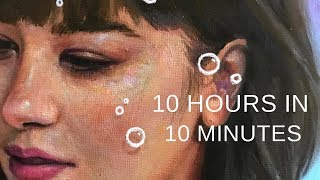 "PAINTING TIMELAPSE || Expressive Portrait in Oil - ""Drift"""