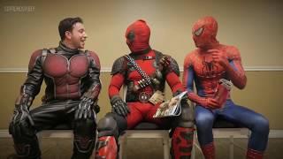 A SALA DE ESPERA 3 - DUBLADO | Deadpool, Homem-Aranha e Homem-Formiga