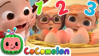 Numbers Song - Chicken | CoCoMelon Nursery Rhymes & Kids Songs