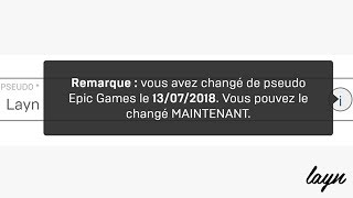(PATCH) CHANGE OF PSEUDO FORTNITE IN ILLIMITE (PAS PUTACLICK) - Layn