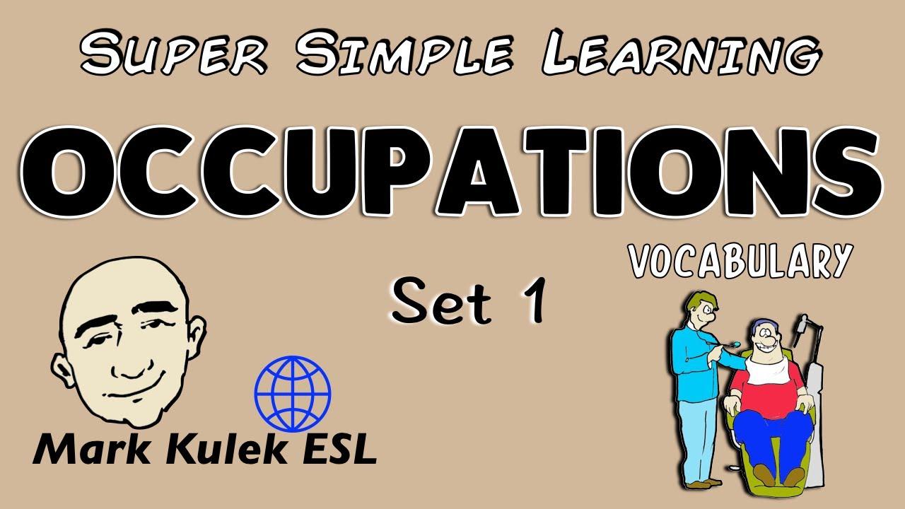 Occupations Set 1 Basic Vocabulary Practice English Speaking Esl Efl Ell You