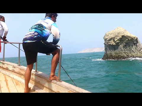 GT Popping Fishing in Pakistan - Astola Island
