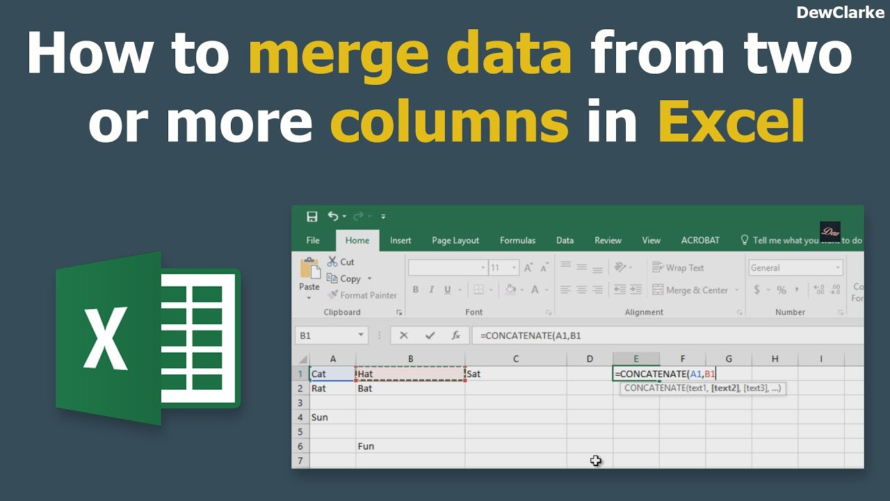 how to add two coulmns in excel