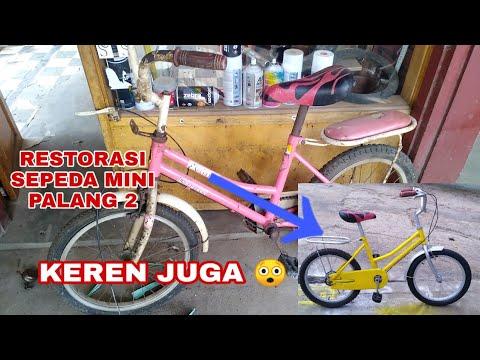 Restorasi Sepeda Mini Palang Dua Sepeda Minion Palang Dua Bicycle Restoration Youtube