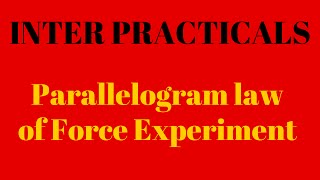 Physics Practical Parallelogram law of Force Experiment video