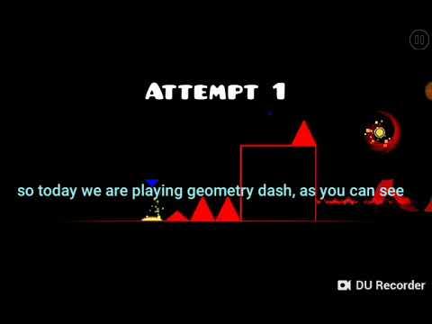 Playing Geometry Dash!!