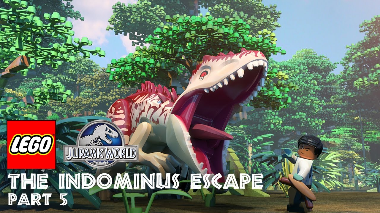 lego jurassic world the indominus escape season 1 episode 5