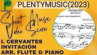 Cervantes I. | Invitación (Invitation) arranged flute and piano