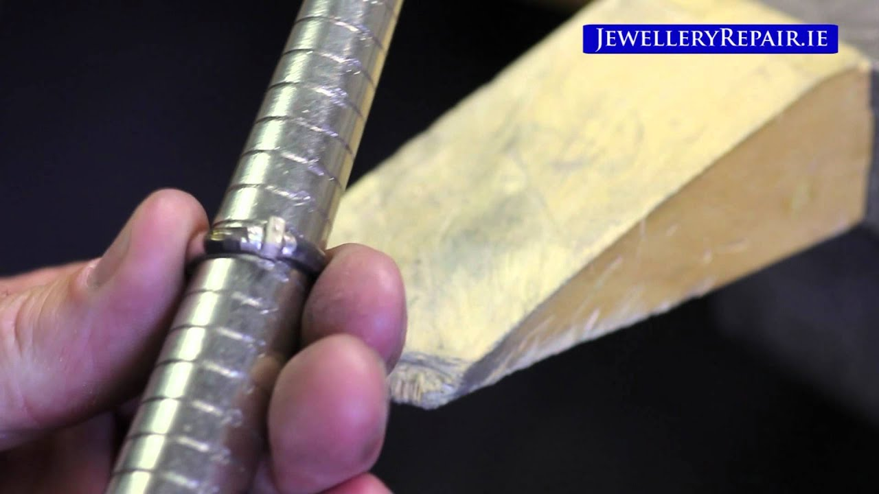 Jewellery Repair Resizing White Gold Diamond Ring YouTube