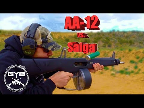 AA-12 vs. Saiga 12---FULL AUTO SHOTGUNS
