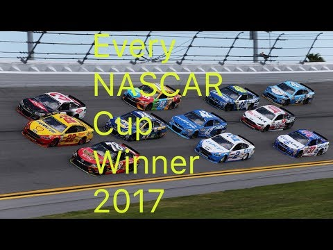 Every 2017 Monster Energy NASCAR Cup Series Winner | Daytona Clash - New Hampshire (Video Clips)