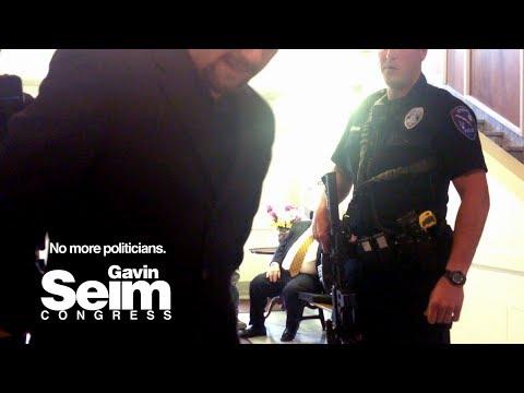 Police Search Gavin Seim for Suspicion of a LEGAL Gun!