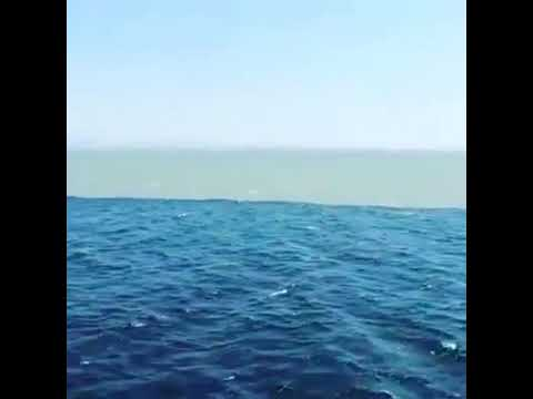 The Arabian sea and Indian ocean mixing point