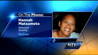 Witness speaks out about Maui shootout with police