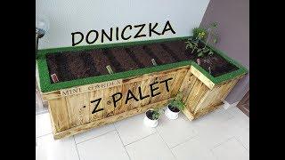 Donica Ogrodowa z PALET , Doniczka z drewna,  Flowerpot, DIY