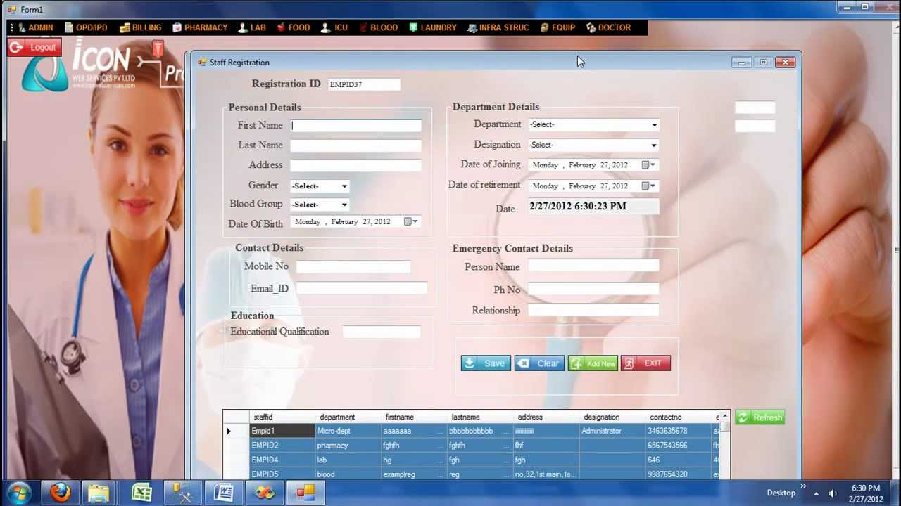 Hospital Management System Admin Module Demo Icon Info