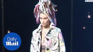 Kendall Jenner & Gigi Hadid walk the Marc Jacobs runway in dreads - Daily Mail