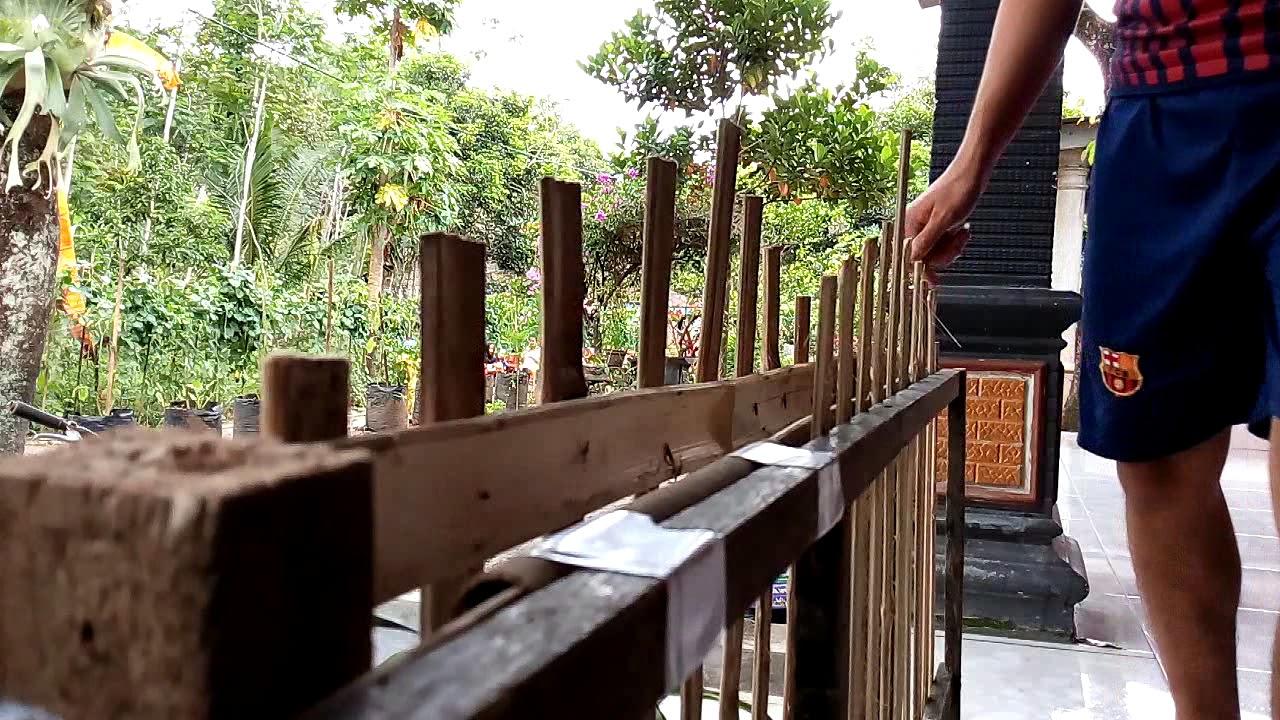 Pintu Geser Sederhana Dari Bambu Youtube