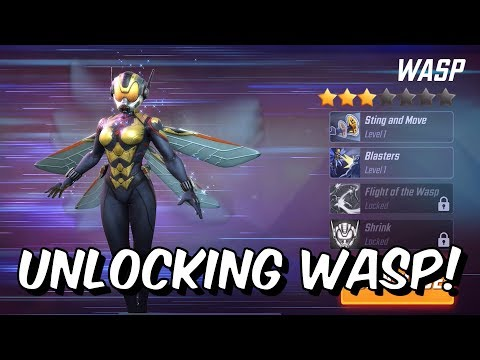 Unlocking Wasp! - Orb Opening, Abilities and Level 60 Blitz Gameplay - Marvel Strike Force