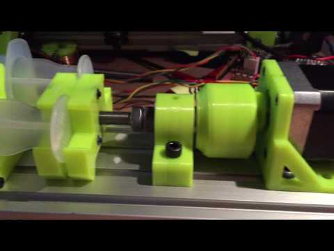 Internal Herringbone Gear Syringe Pump