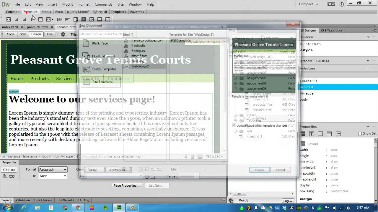 Create templates in dreamweaver cc youtube for Templates for dreamweaver cc