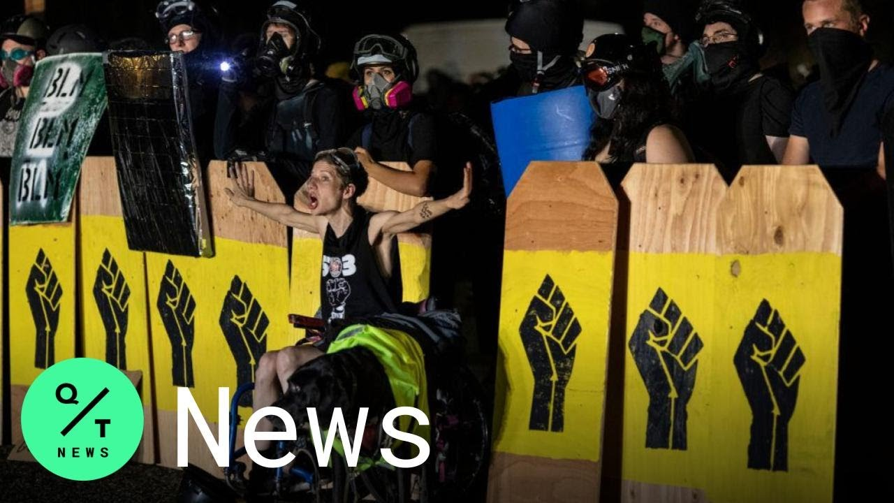 Portland Police Charge 8 After Demonstrators Vandalize Democratic ...
